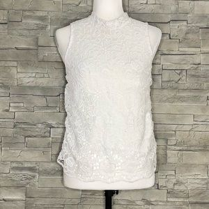 Monteau off-white lacy top